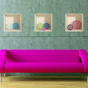 Sada 3 samolepek s 3D efektem Fanastick Spheres