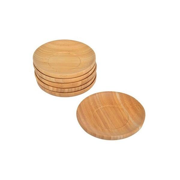 Set 6 suporturi din bambus pentru pahare Bambum Silva