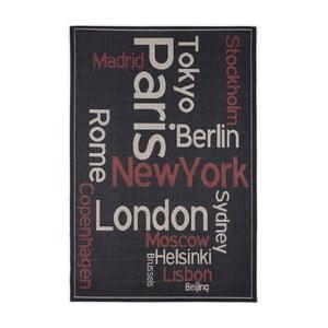 Černý koberec Calista Rugs Cities, 80x150cm