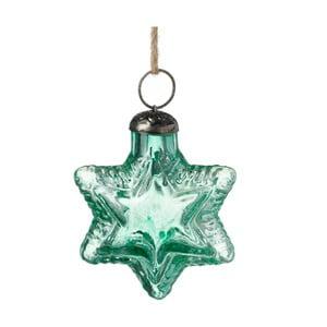 Zelená vánoční ozdoba Parlane Star