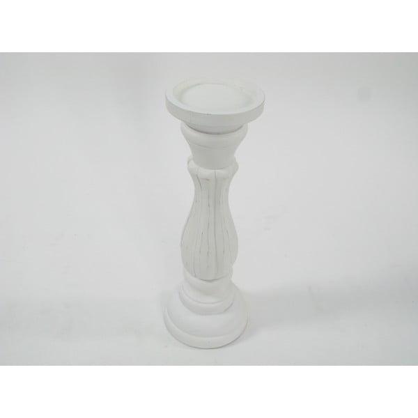 Dřevěný svícen White Nature, 33 cm