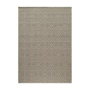 Šedobéžový koberec Nourison Baja Apuri, 290 x 201 cm