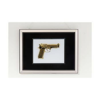 Tablou pe sticlă Kare Design Gun Gold,80 x 60 cm