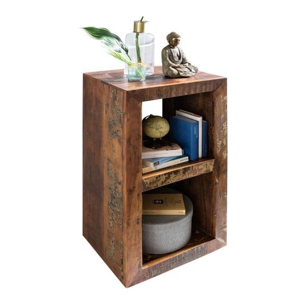 Bibliotecă din lemn de mango reciclat Skyport KALKUTTA, 45 x 35 cm