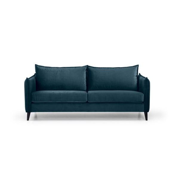 Ciemnoniebieska sofa 3-osobowa Scandic Leo