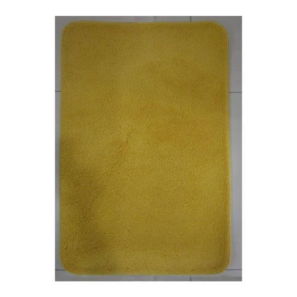 Koupelnová předložka ve zlaté barvě Aurea, 88x54cm