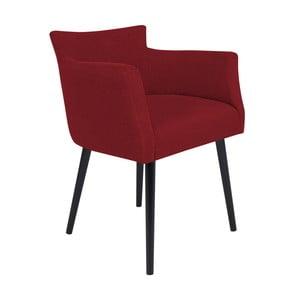 Červená židle s područkami Windsor & Co Sofas Gemini