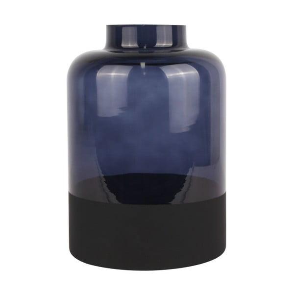 Modrá skleněná váza PT LIVING Majestic, výška18cm