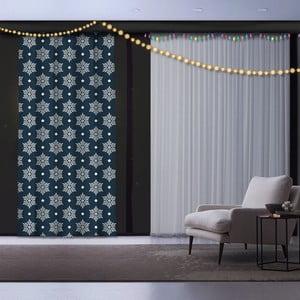Vánoční závěs Snowflakes, 140 x 260 cm