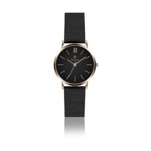 Dámské hodinky s černým řemínkem z nerezové oceli Paul McNeal, ⌀ 3,6 cm