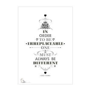 Plakát Coco Chanel, 30x40 cm