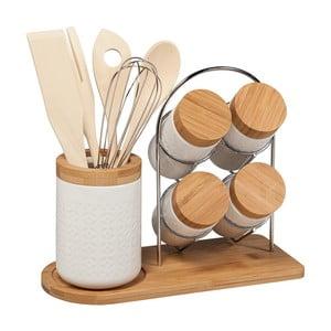 Set 4 kořenek a bambusových kuchyńských nástrojů Tarro