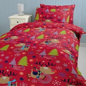 Povlečení Christmas with Rudolph, 135x200 cm