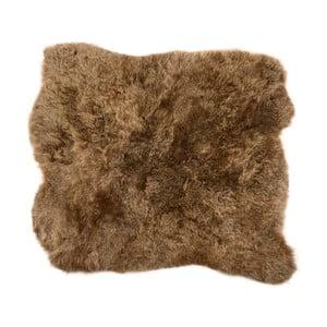 Hnědý kožešinový koberec s krátkým chlupem Arctic Fur Busta, 90x80cm