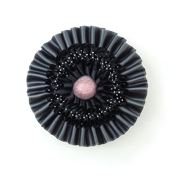 Saténová brož HONNOR M, růžová