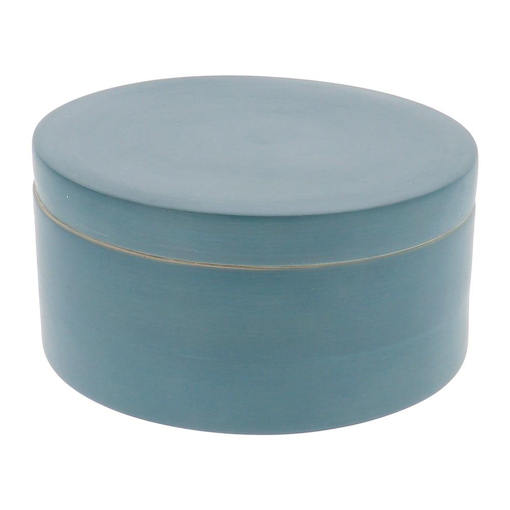 Modrý bambusový úložný box s víkem Compactor Bamboo Box
