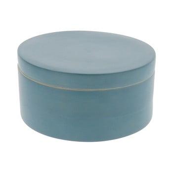 Cutie rotundă din bambus Compactor Bamboo Box, albastru