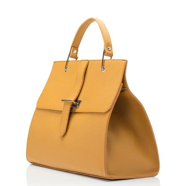 Kožená kabelka Lisa Minardi 5215 Cognac