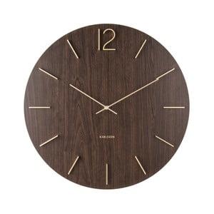 Tmavě hnědé nástěnné hodiny Karlsson Meek, ⌀50 cm