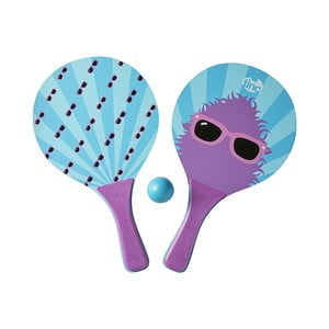 Fialové pálky na ping pong s míčkem TINC Bat & Ball