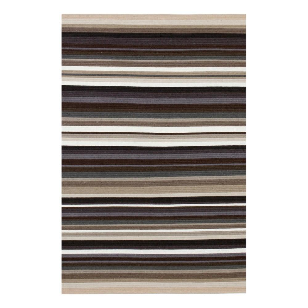 Béžový ručně tkaný vlněný koberec Linie Design Refine, 170 x 240 cm