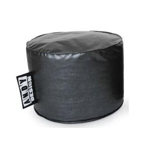 Taburet, velký (koženka stříbrná)