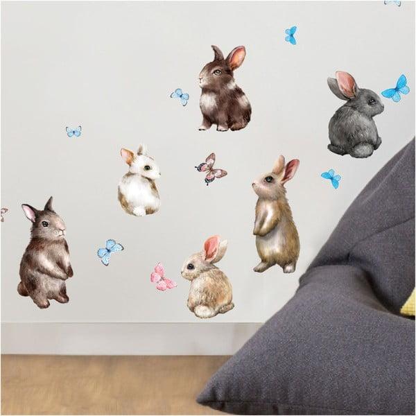 Autocolant de perete Ambiance Baby Rabbits
