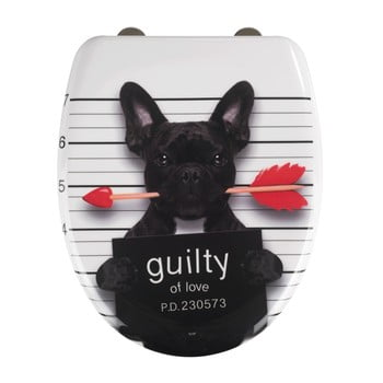 Capac WC cu închidere lentă Wenko Guilty Dog, 45 x 38 cm imagine