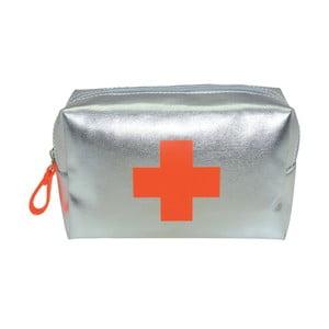 Šedá toaletní taška Incidence Vitamines, 16x10cm
