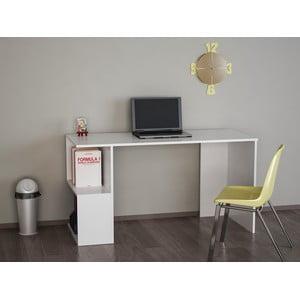 Bílý pracovní stůl Mercan, 140 x 75 cm