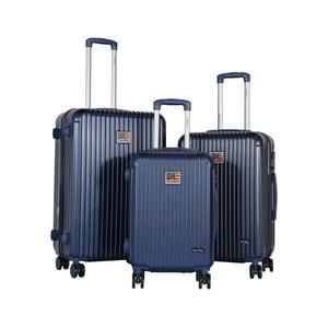 Sada 3 tmavě modrých cestovních kufrů LULU CASTAGNETTE Darwin