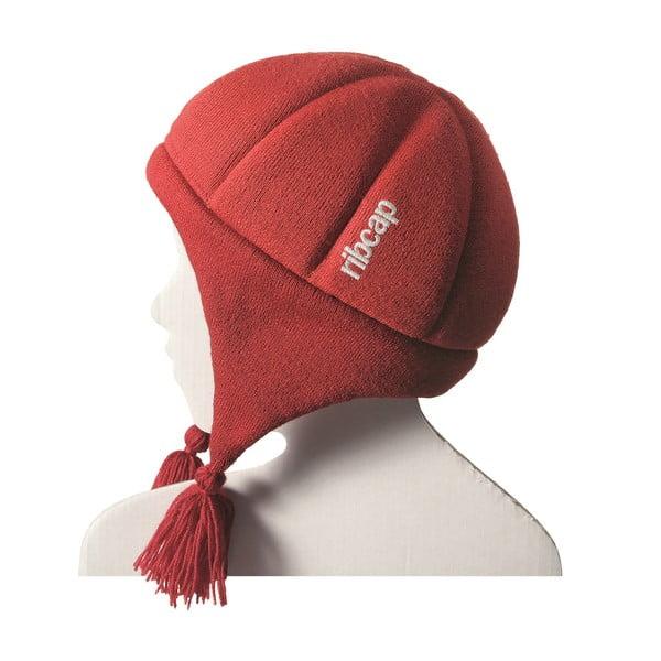 Dětská červená čepice s ochrannými prvky Ribcap Chessy, vel. S