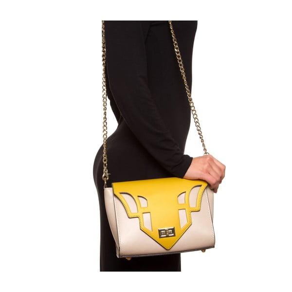 Kožená kabelka Luisa Vannini 3036, žlutá