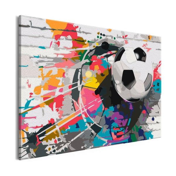 DIY set na tvorbu vlastného obrazu na plátne Artgeist Colourful Ball, 60×40 cm