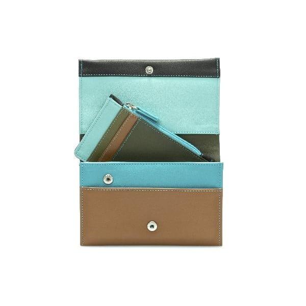 Peněženka a pouzdro na kreditní karty Brown/Blue
