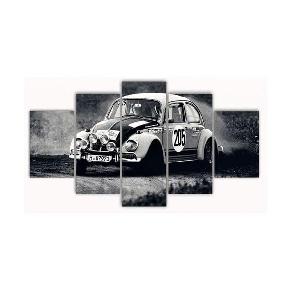 5dílný obraz Old Car, 100x60 cm