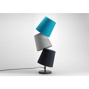 Stolní lampa Three Lampshades Turqouise