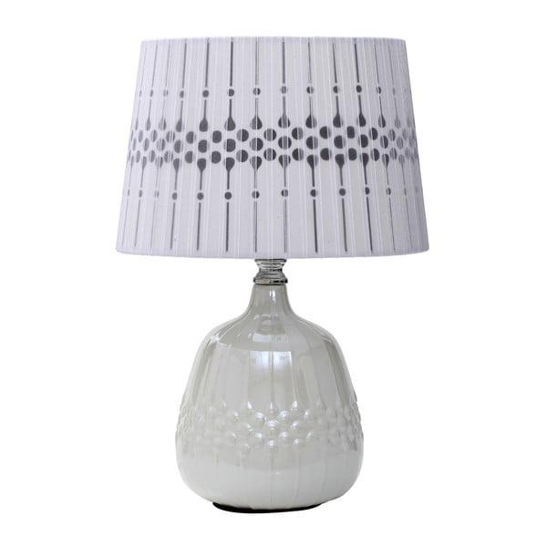 Biela stolová lampa Mauro Ferretti Paralume