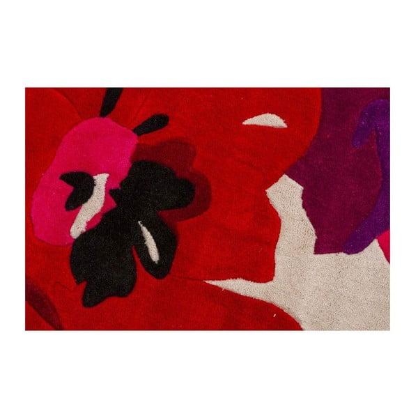Koberec Bloom 120x170 cm, červený