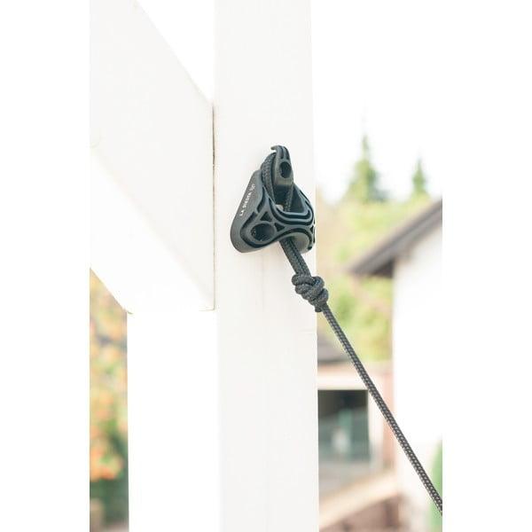 Systém na uchycení houpací sítě mezi zdi