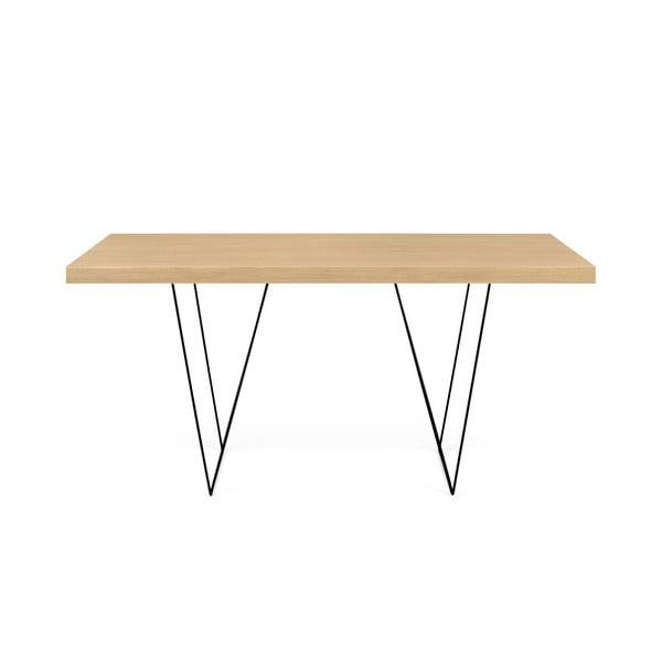 Stół z czarnymi nogami TemaHome Multi, 160x77 cm