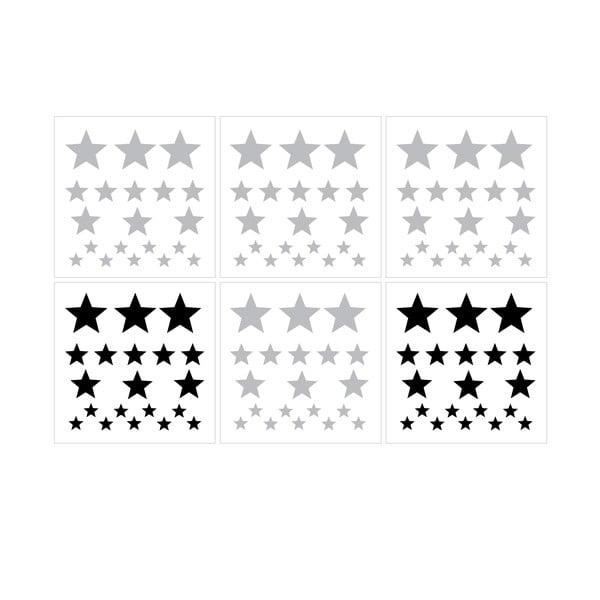 Komplet naklejek ściennych Dekornik Stars