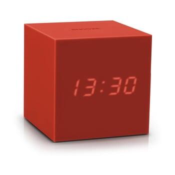 Ceas deșteptător cu LED Gingko Gravity Cube, roșu