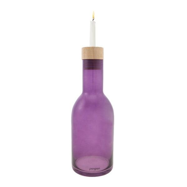 Váza/svícen Bottle 30,5 cm, fialová