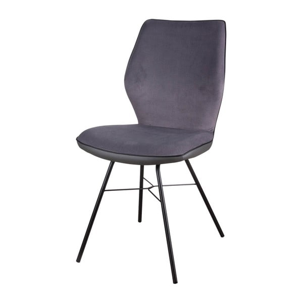 Set 2 scaune Sømcasa Erika, gri închis