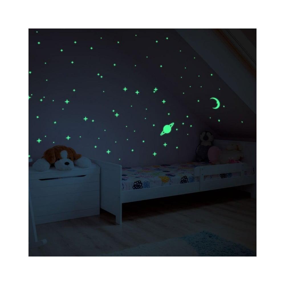Svítící samolepky na zeď Ambiance Moon and Planets