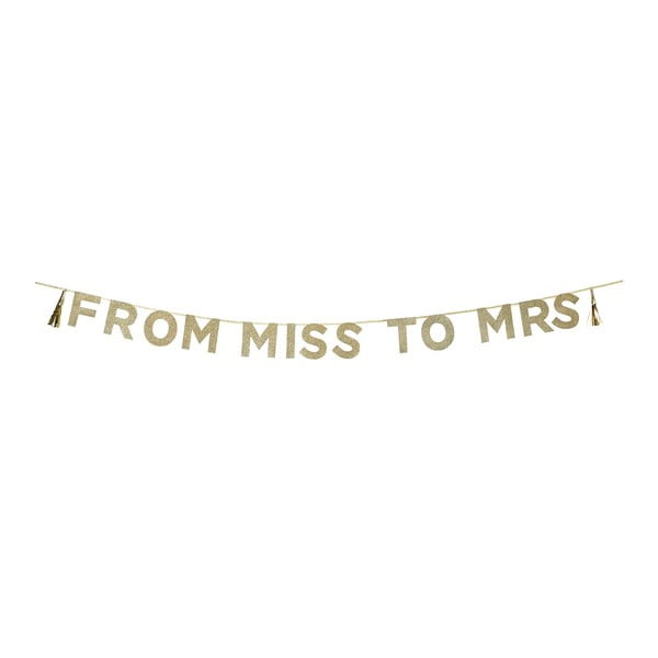 Girlanda From Miss To Mrs, 3 m