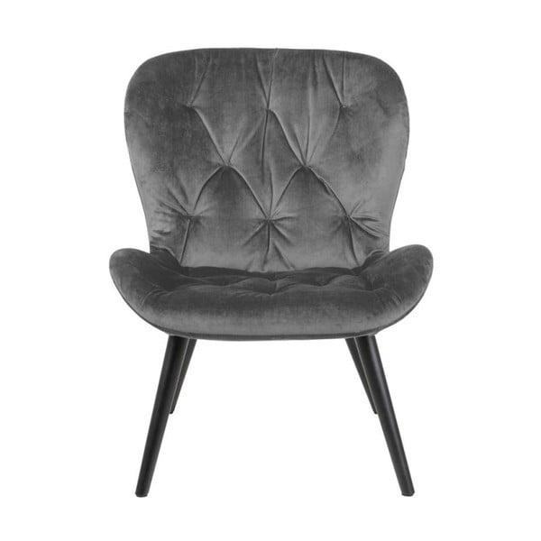Šedá polstrovaná židle Actona Batilda