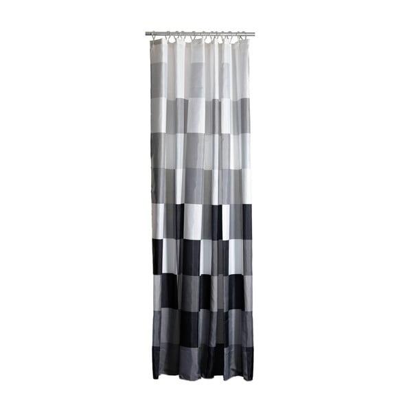 Šedo-bílý sprchový závěs Zone Confetti