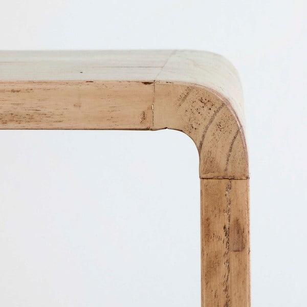 Světle hnědý noční stolek z lakovaného dřeva Thai Natura, 50 x 51 cm